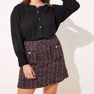 LOFT PLUS Boucle Pocket Shift Skirt